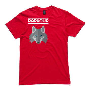 Parkour Wolf - White (front & back) Thumbnail